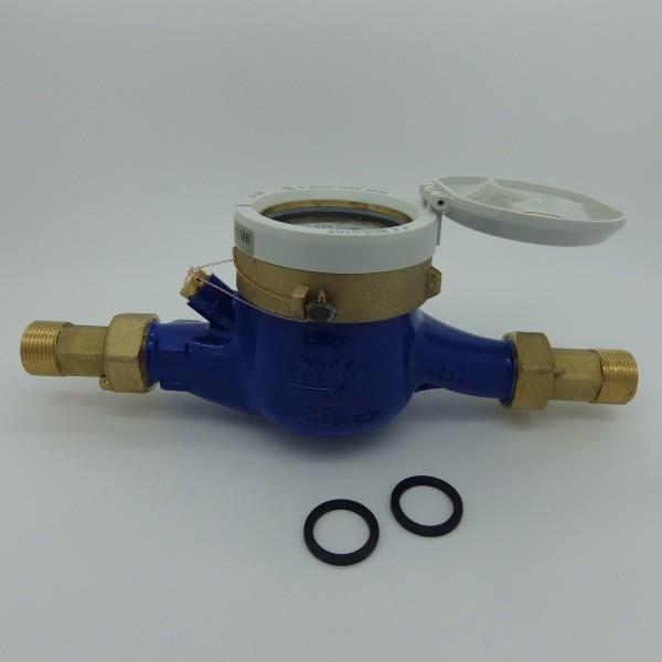 Wasserzähler Q3 = 4 mit Verschraubung 3/4 Zoll