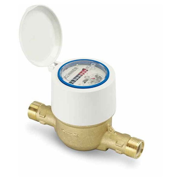 Ringkolben -Wasserzähler RTKD-M-CC Baulänge 190 mm, 1 Zoll AG, Q3 = 4
