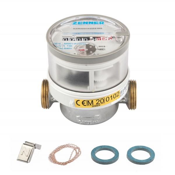 Q3 = 2,5, Kaltwasser, BL 80 mm 1/2 Zoll Durchfluss / 3/4 Zoll Anschluss