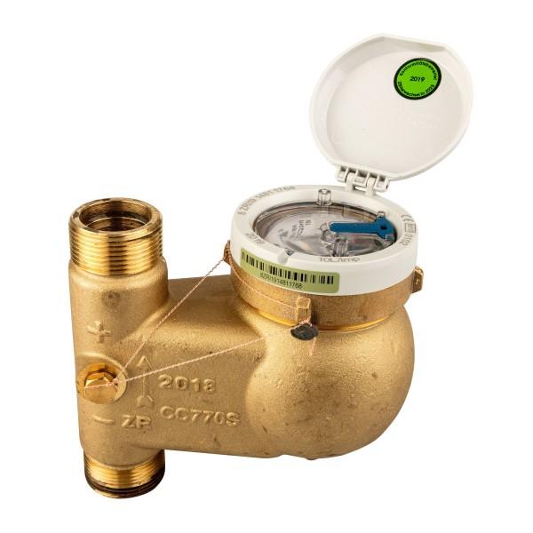 Zenner Hauswasserzähler Q3 = 10 (DN25) für Steigrohr - Montage