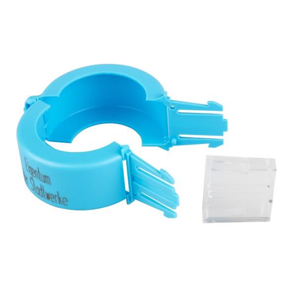 Aufdruck Stadtwerke Plomben blau Wasserzähler DN 25 / 100 Stück