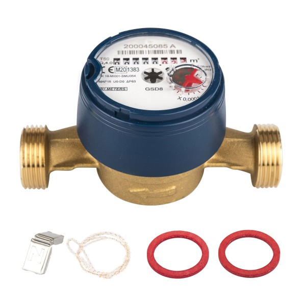 Wasserzähler Q3 = 4 ( Alt QN 2,5 ) Kaltwasser, BL 130 mm 1 AG / Durchfluss 3/4 Zoll Ratio 100