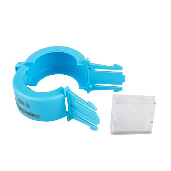Aufdruck Versorgungsunternehmen Plomben blau Wasserzähler DN 40 / 50 Stück