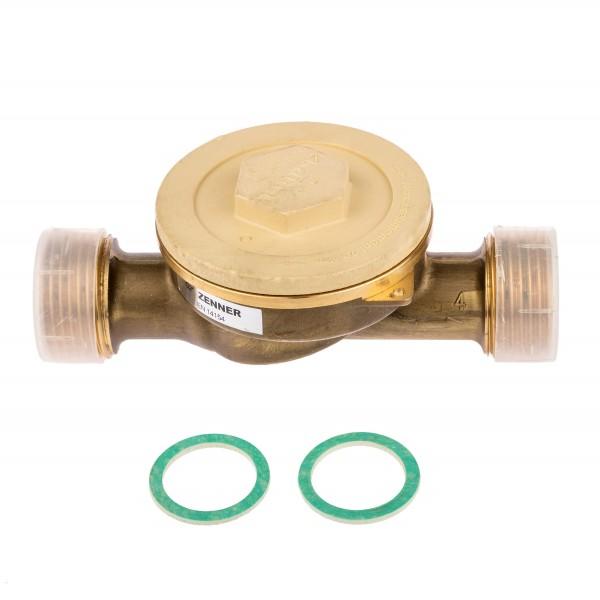 Zenner Einbauset zu Kapselwärmezähler 1 Zoll Anschluss zu Qn 1,5er Zähler