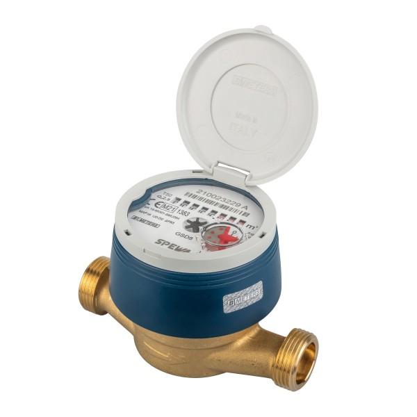Wasserzähler Q3 = 2,5 Kaltwasser, BL 110 mm 3/4 AG - mit UV Schutzhaube Eichung 2021