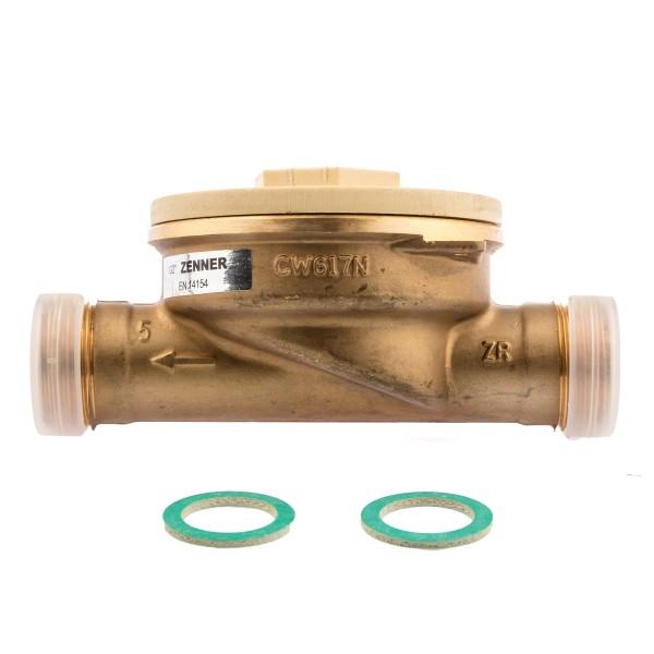 Zenner Einbauset zu Kapselwärmezähler 3/4 Zoll Anschluss