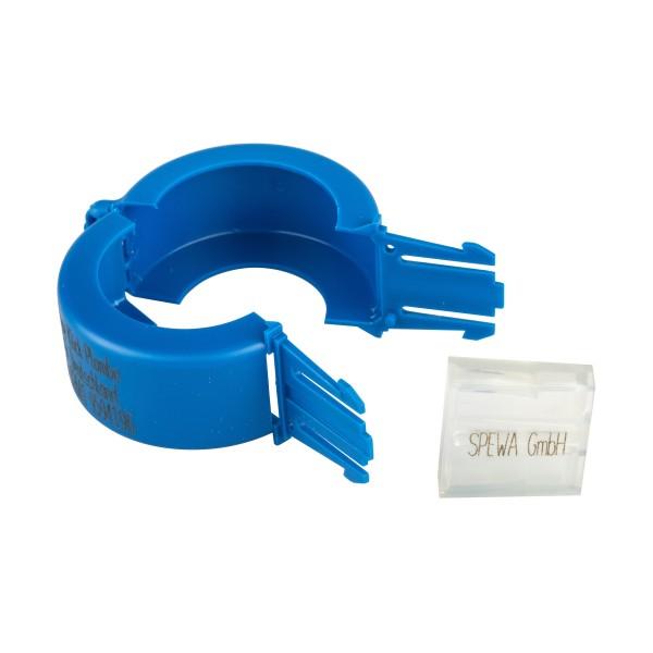 Paket Plomben blau Wasserzähler DN 20 mit Aufdruck 200 Stück