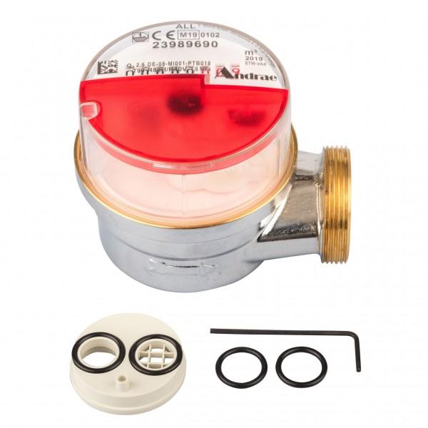 Messkapsel MC für Montage an Wannen oder Ventilzählern Warmwasser Q3 = 2,5 ( Alt QN 1,5 )