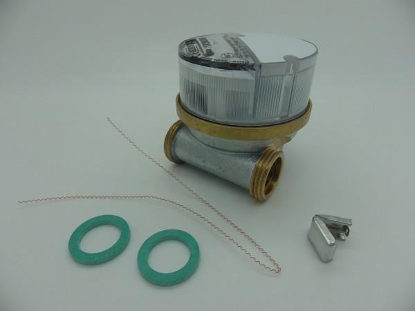 """Einstrahlwasserzähler Q3 = 2,5 Warmwasser, BL 60 mm 1/2 Zoll Durchfluss / 3/4 Zoll Anschluss """"ECO"""""""