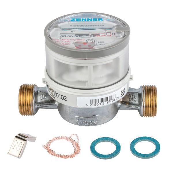Warmwasserzähler Q3 = 2,5, BL 110 mm / 3/4 Zoll Anschluss / Eichung 2021