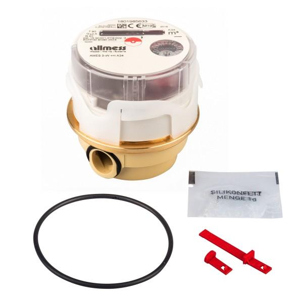 Allmess Messkapsel AMES-3-W / Up 6000 MID Q3 = 2,5 für Warmwasser inc. Konformitätsentgelt