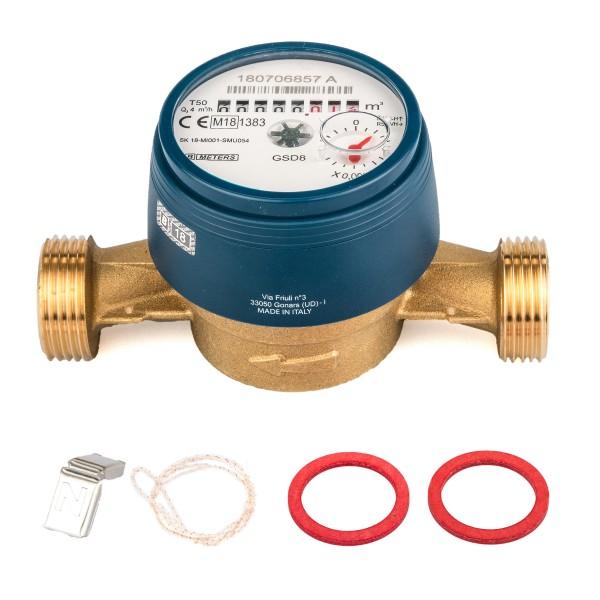Wasserzähler QN 2,5 Kaltwasser, BL 130 mm 3/4 Zoll Beste Messgenauigkeit