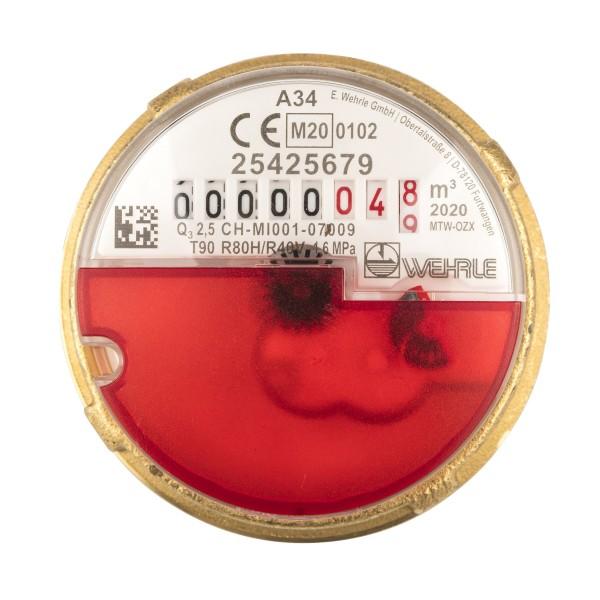 Allmess passende Messkapsel zu UP 6000 Q3 = 2,5 Warmwasser von Wehrle