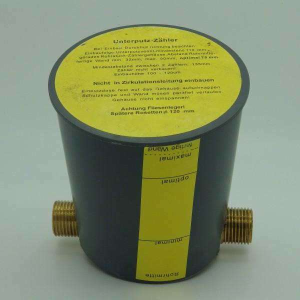 Einbauset zu Kapselzähler UP 1/2 Zoll Anschluss AG