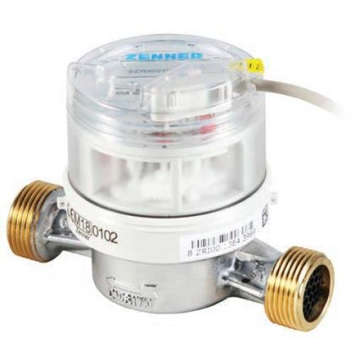 Zenner Kaltwasserzähler Q3 = 2,5 / 3/4 AG / BL 80 mm mit Impulsausgang 0,25 Liter