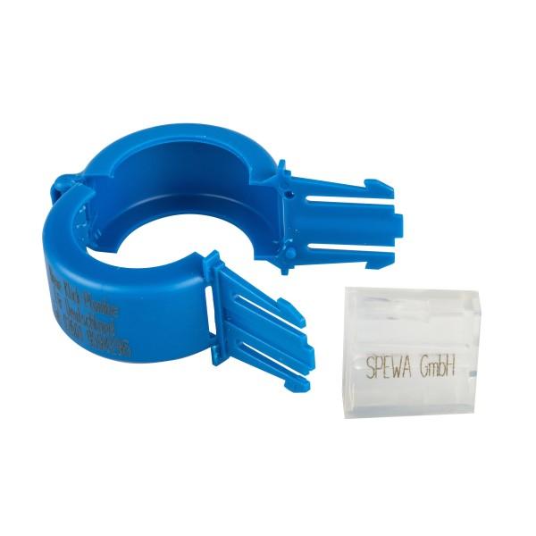 Paket Plomben blau Wasserzähler DN 25 mit Aufdruck 100 Stück