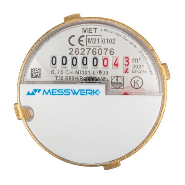 Messkapsel für Metrona MK 3 Q3 = 2,5 Kaltwasser