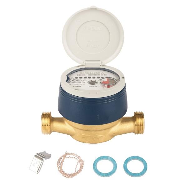 Frostgeschützter Zähler Q3 = 2,5 / BL 110 mm - 3/4 AG - mit UV Haube Eichung 2020