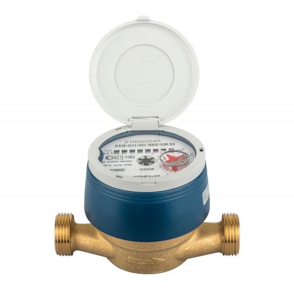 Frostgeschützter Zähler Q3 = 2,5 / BL 110 mm - 3/4 AG - mit UV Haube Eichung 2021