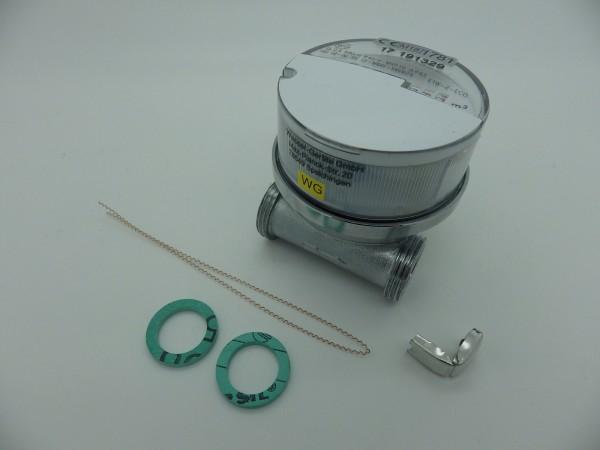 Einstrahlwasserzähler Q3 = 2,5 Warmwasser, BL 60 mm 1/2 Zoll Durchfluss / 3/4 Zoll Anschluss
