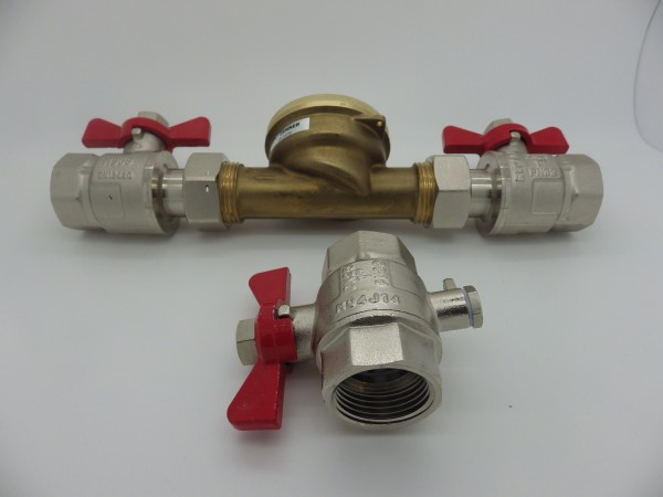 Wärmezählereinbauset 1 Zoll Messing Komplett ISTA passend