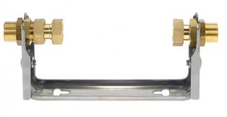 Wasserzählerbügel für HWZ 190 mm, Rohranschluss 3/4 AG
