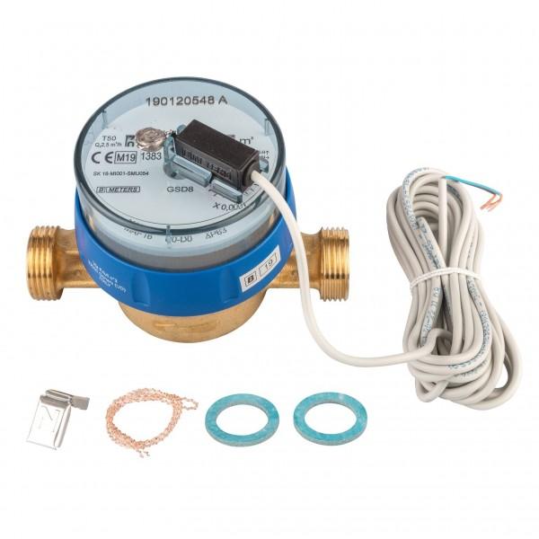 Kaltwasserzähler Q3 = 2,5 ( Alt QN 1,5 ) 3/4 AG - BL 110 mm mit Impulsausgang 1 Liter GSD 8