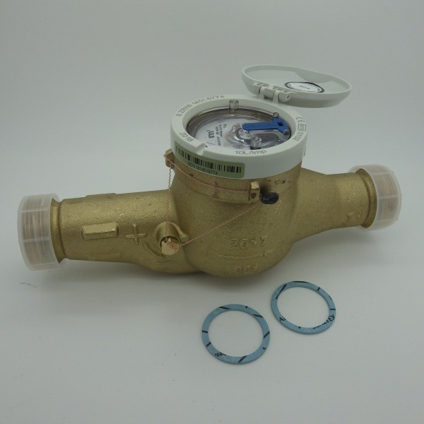 Zenner Hauswasserzähler Baulänge 260 mm, Q3 = 10 (DN32) für waagerechte Montage