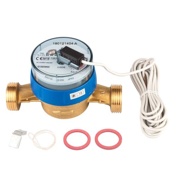 Kaltwasserzähler Q3 = 4 ( Alt QN 2,5 ) 1 AG / BL 130 mm mit Impulsausgang 1 Liter GSD 8