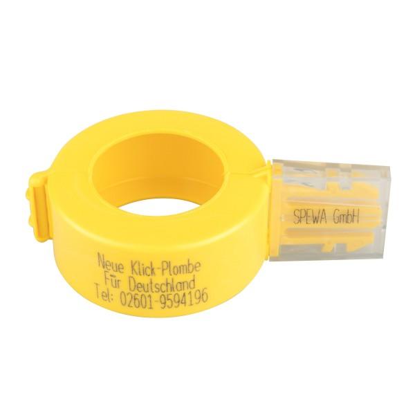 Paket Plomben gelb Gaszähler G 25 mit Aufdruck 50 Stück