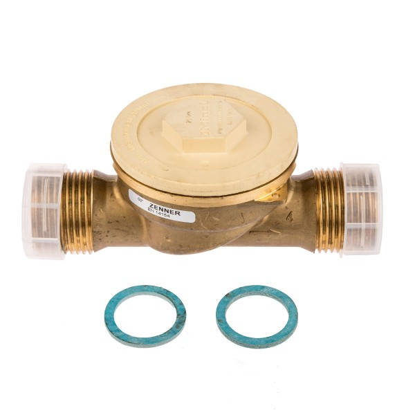 Zenner Einbauset zu Kapselwärmezähler 1 Zoll Anschluss