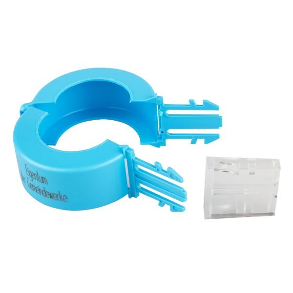 Aufdruck Gemeindewerke Plomben blau Wasserzähler DN 40 / 50 Stück