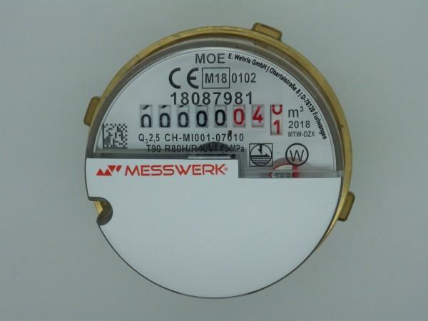 Messkapsel für ABB / Elster MO - E Q3 = 2,5 Warmwasser